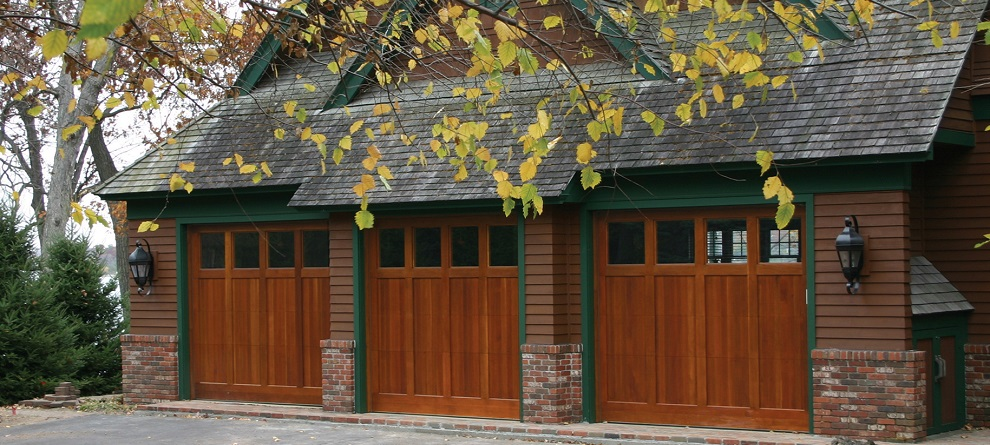wood residential garage doors kansas city